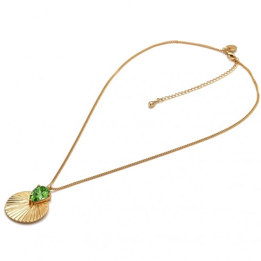 Necklace Daytona Green Gold - Bud to Rose