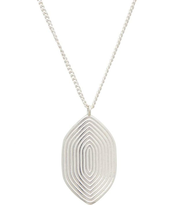 Necklace Maze Silver - Louise Kragh