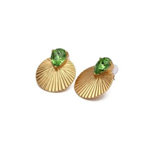 Boucles d'oreilles Daytona Green Gold - Bud to Rose