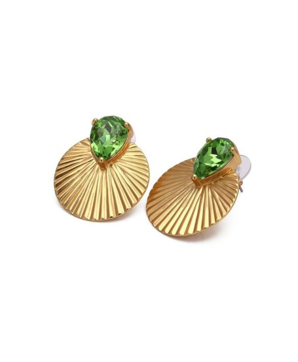 Earrings Daytona Green Gold - Bud to Rose