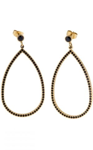 Boucles d'oreilles Carrie Gold Black - Ingnell Jewellery