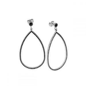 Boucles d'oreilles Carrie Steel Black - Ingnell Jewellery
