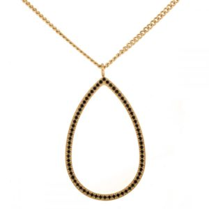 Necklace Carrie Gold Black - Ingnell Jewellery