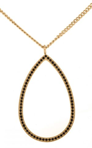 Collier Carrie Gold Black - Ingnell Jewellery
