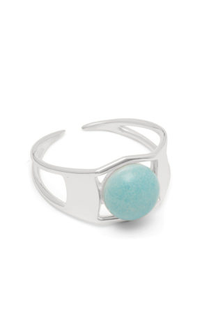 Ring Arch Silver Turquoise - Louise Kragh
