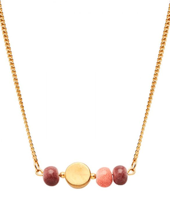 Necklace Colour Gold Plum Peach - Louise Kragh