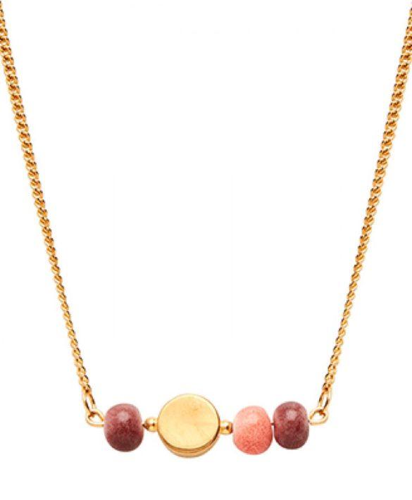 Collier Colour Gold Plum Peach - Louise Kragh