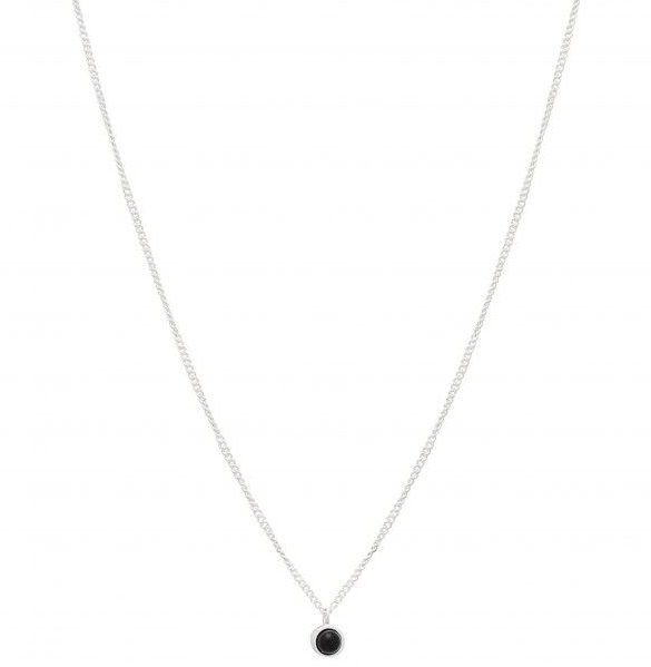 Necklace Fall Silver Granite - Louise Kragh