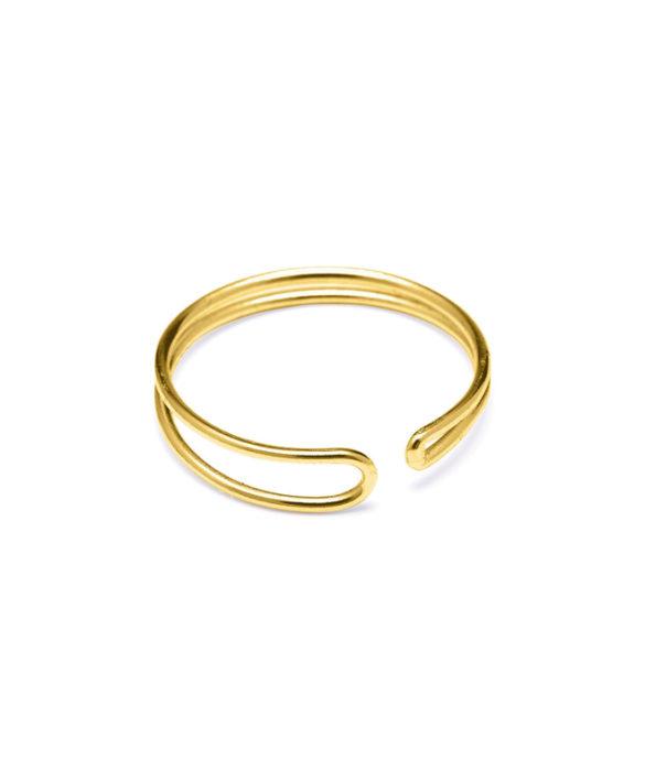 Ring Enamel Gold - Louise Kragh