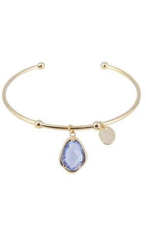 Bracelet Snowdrop Bangle Blue - Star of Sweden