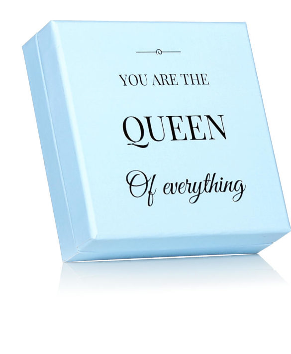 Gift Box Blue - YOU ARE THE QUEEN OF EVERYTHING - Star of Sweden