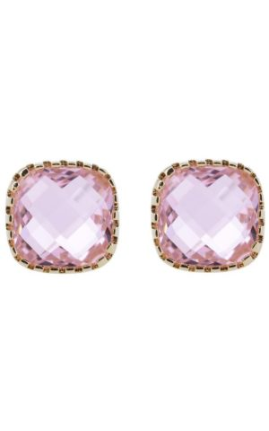 Earrings Classic Stud Pink - Star of Sweden