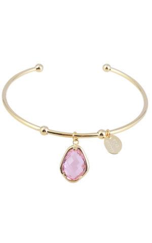 Bracelet Snowdrop Bangle Pink - Star of Sweden