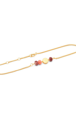 Bracelet Colour Gold Plum Peach - Louise Kragh