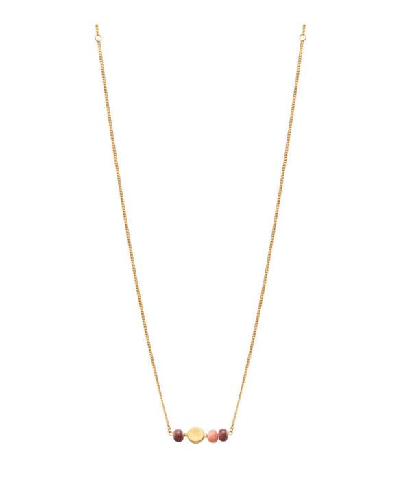 Necklace Colour Gold Plum Peach - Louise Kragh