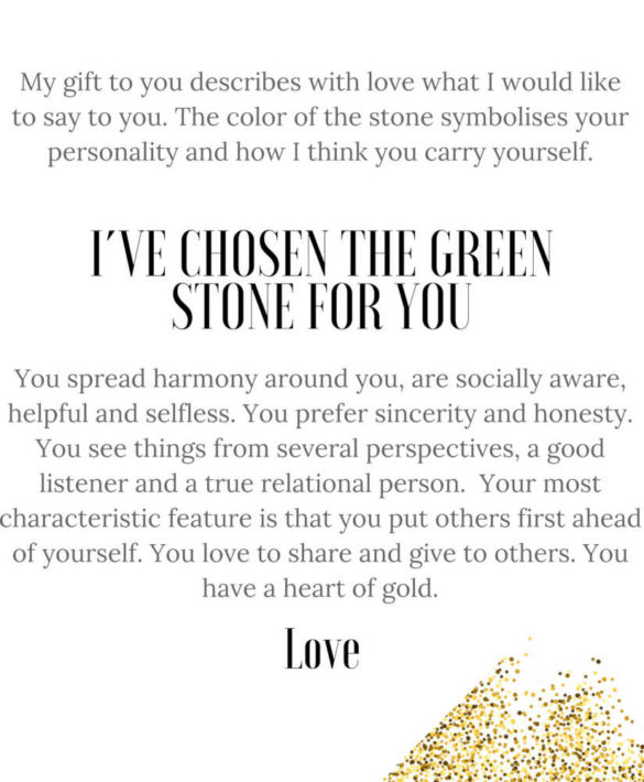 Gift Note Green Stone - Star of Sweden