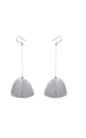 Boucles d'oreilles Serenity Long Silver - Pioni Design